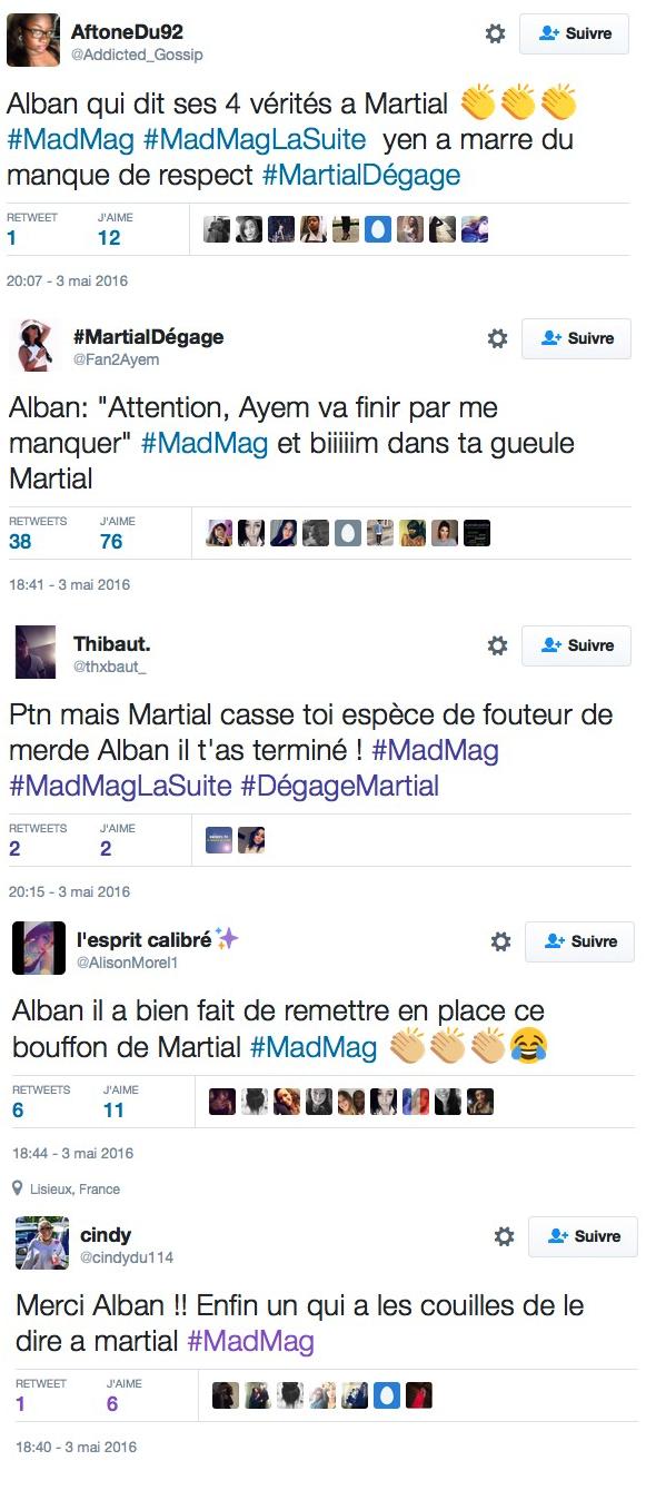 Alban Bartoli recadre Martial Betirac dans le Mad Mag