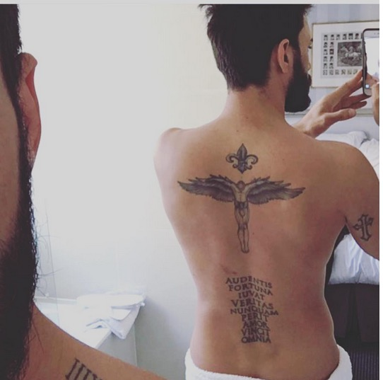 photo - thomas vergara: un tattoo xxl prémonitoire? - gossip