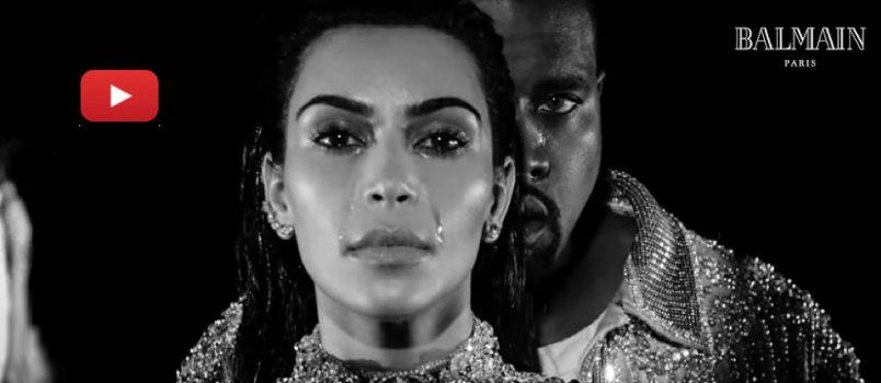 BUZZ! Kanye West et Kim Kardashian: Leur clip hypnotique pour Balmain envoute la Toile!