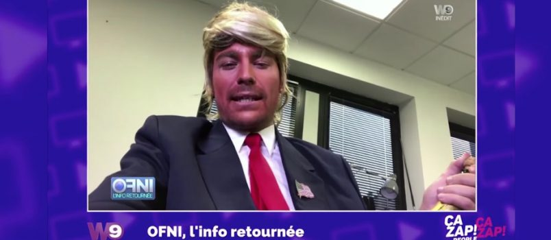 OFNI : Bertrand Chameroy se déguise en Donald Trump! ZAPPING PEOPLE 09/11/2016