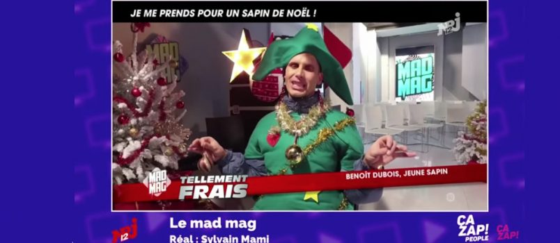 Reconversion de Benoit Dubois... en sapin de Noël! ZAPPING PEOPLE 19/12/2016