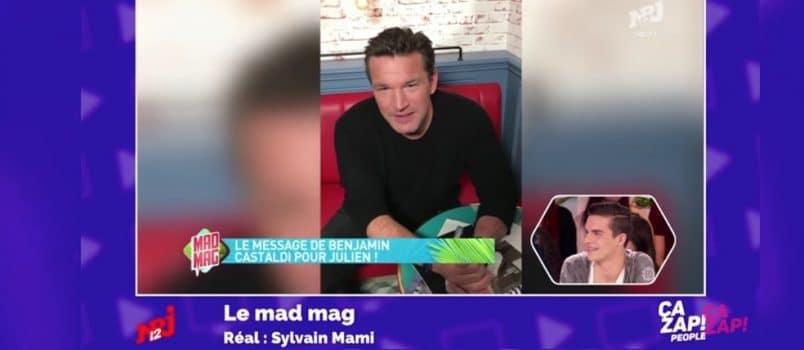 Benjamin Castaldi s'adresse à son fils, Julien, pour sa 1ère (#MadMag)! ZAPPING PEOPLE DU 09/02/2017