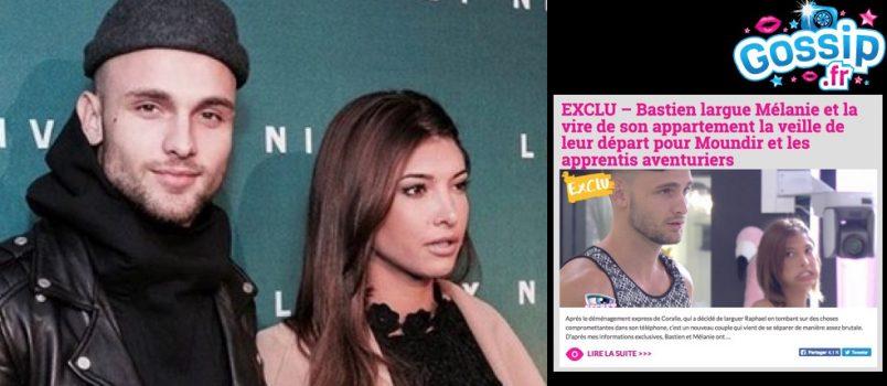 Bastien (#MELAA2): Il confirme les conditions de sa rupture avec Mélanie!