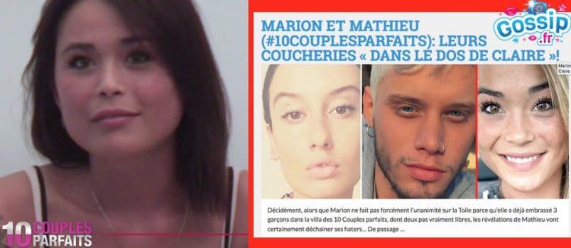 Claire (#10CouplesParfaits): Elle réagit aux révélations choc de Mathieu!