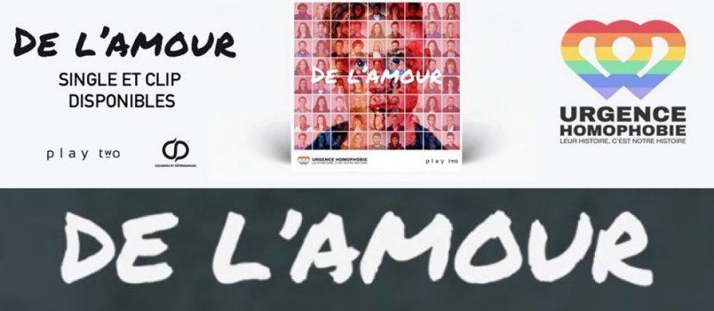 """""""De l'amour"""": 70 personnalités réunies dans un clip contre l'homophobie!"""